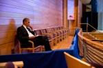 Obama at Sasha's Dress Rehearsal